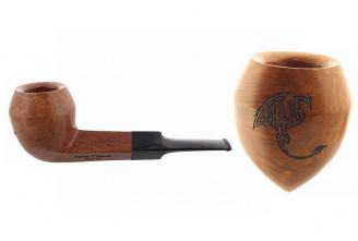 Pipe gravée dragon