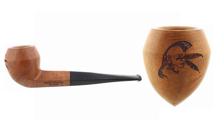 Pipe gravée iroquois