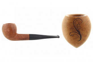Pipe gravée arabesque