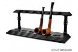 Pose pipes Chacom hêtre teinté noir 306