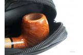 Pochette pour pipe en cuir noir