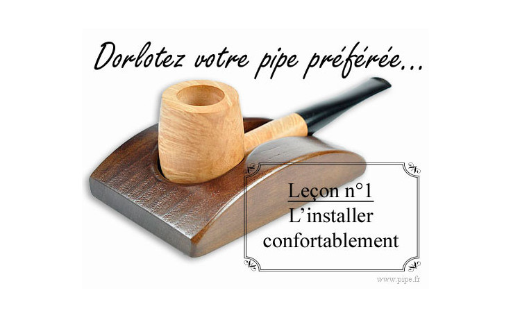Porte pipe 1 pipe noyer