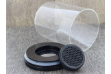 Pot à tabac transparent Noyer