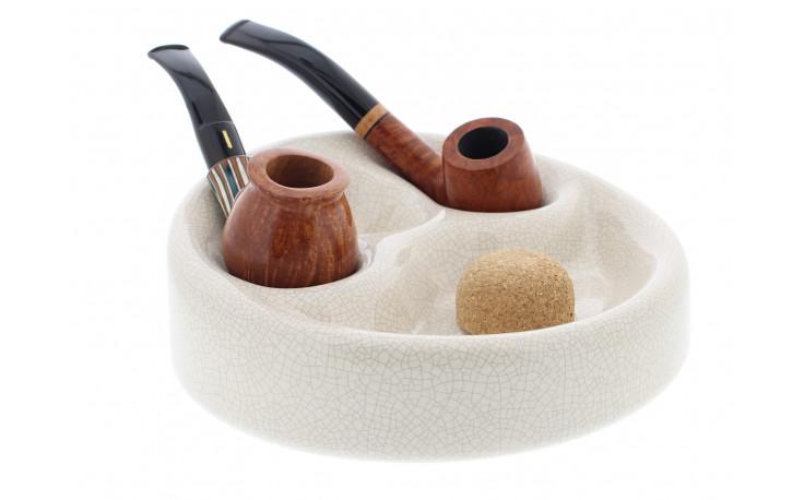 Cendrier céramique 3 pipes