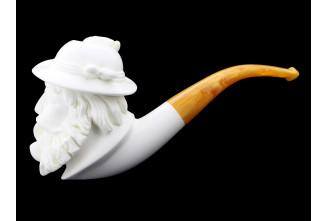 Pipe en écume de mer Fumeur 1