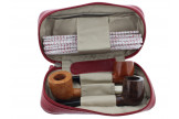 Housse Savinelli 2 pipes rouge