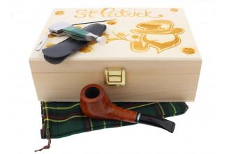 Coffret Saint-Patrick pipe forme cintrée