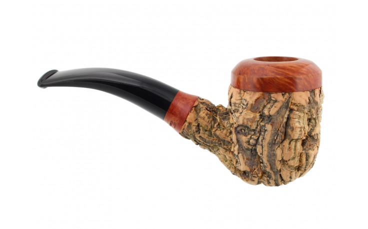 Pipe Tom Spanu (courbe, tuyau noir)