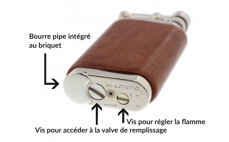 Briquet à pipe Corona Old Boy 64/4000 Natural