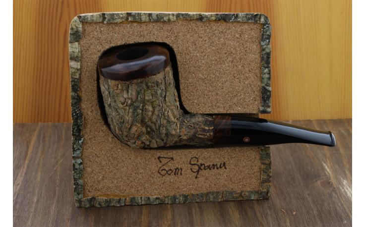 Pipe Tom Spanu sombre (droite, tuyau noir)