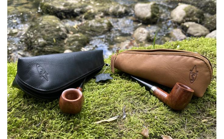 Trousse à pipes Savinelli cognac