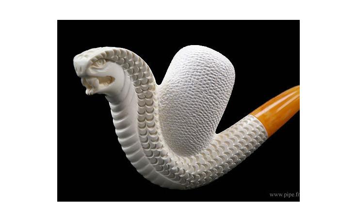 Pipe en écume de mer Serpent 2