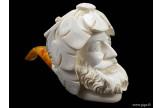 Pipe en écume sculptée Bacchus