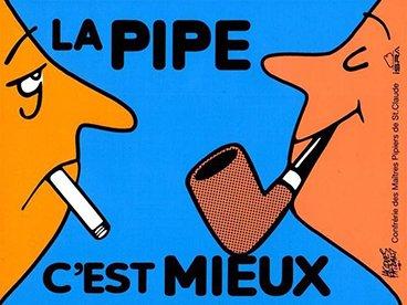 La pipe, c'est mieux que la cigarette