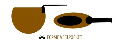 Pipe de forme Vestpocket