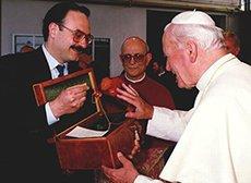 Pipe Amorelli pour le pape Jean-Paul II