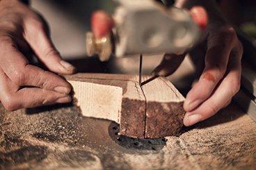Fabrication de pipes chez Bruno Nuttens