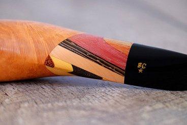 Bague de marqueterie en bois exotique