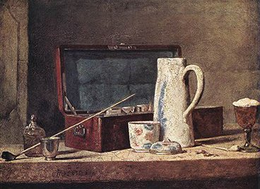 Still life with pipe an jug