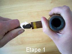 Cleaning your pipe step 1