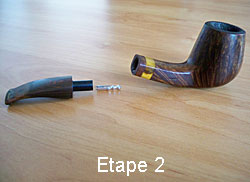 Cleaning your pipe step 2