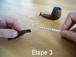 Cleaning your pipe step 3
