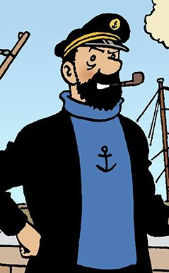 Capitaine Haddock et sa pipe