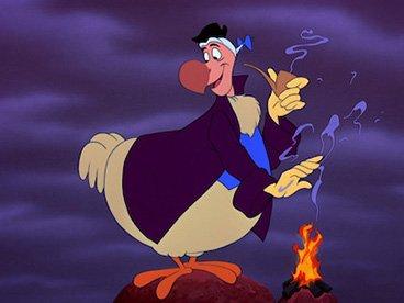 Dodo fume la pipe dans Alice aux Pays des Merveilles