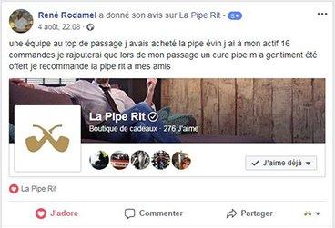 Avis d'un client la Pipe Rit sur Facebook