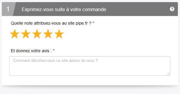 Votre avis sur le site www.pipe.fr