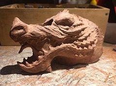 Pipe Dragon sculptée en bruyère