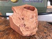 Pipe sculptée à partir d'un ébauchon