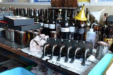 Produits pour la finition laquée d'une pipe