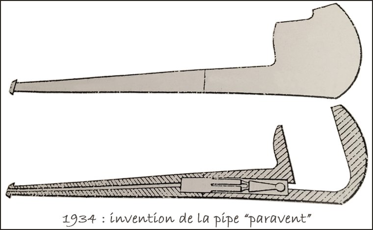 1934 : invention de la pipe paravent