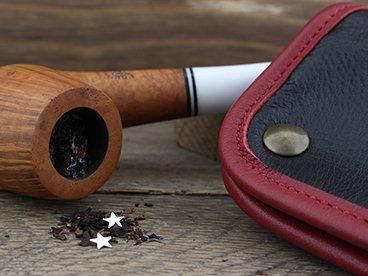 Blague à tabac en cuir de Claudio Albieri