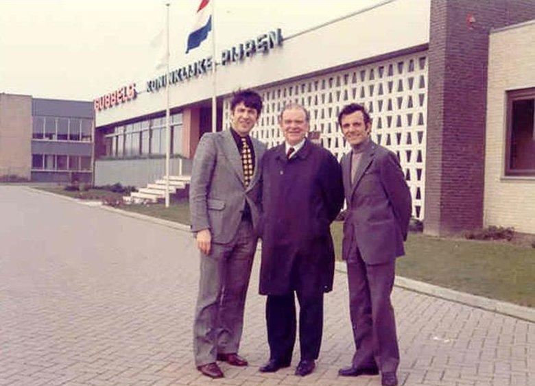Nouvel entrepôt de Gubbels en 1972