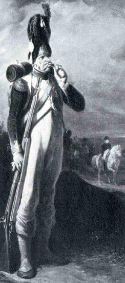 Soldat de Napoléon qui fume la pipe