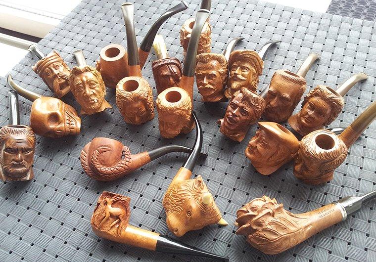 Collection de pipes sculptées