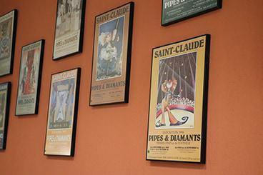 Affiches du musée de la pipe et du diamant