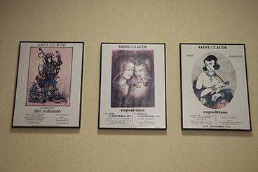 Anciennes affiches du musée de la pipe et du diamant