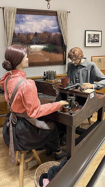 Automates dans le musée de la pipe et du diamant