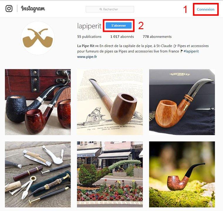 Compte Instagram de la Pipe Rit