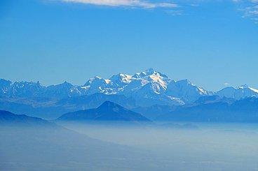 Le Mont Blanc dans les Alpes