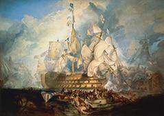 Tableau : La Bataille de Trafalgar, par William Turner (1822)