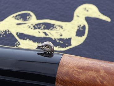 Tête de canard qui orne une pipe L'Anatra