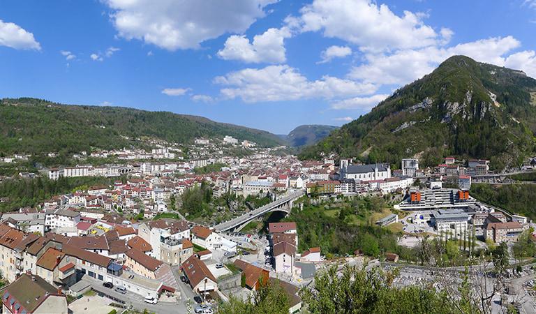 Panorama de la ville de St Claude