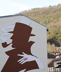 Peinture murale devant chez Butz Choquin