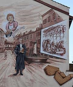 Fresque murale Fabrication de la pipe