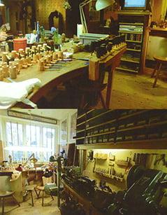 Atelier de fabrication de Tom Eltang