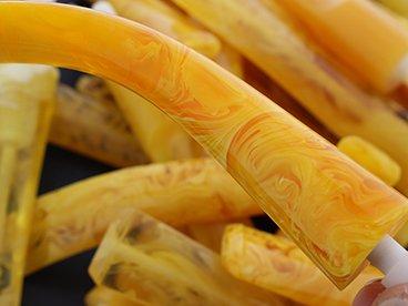 Tuyaux acrylique imitation ambre